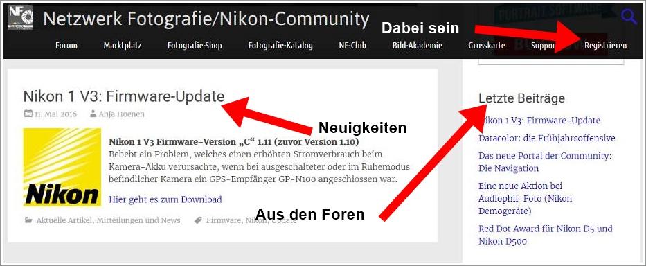 Das neue Portal der Community: Die Navigation II und die Übersichten