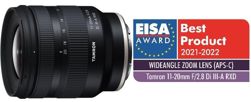 Produktbild Tamron 11-20mm F/2.8 Di III-A RXD (Modell B060) plus Logo EISA-Auszeichnung