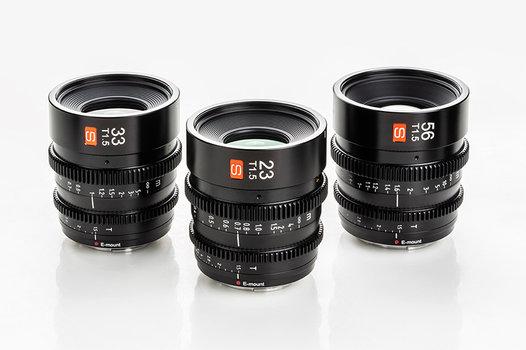 Produktbild: Viltrox-S-Objektive für Sony-E-Mount in den Brennweiten 23, 33 und 56 Millimeter