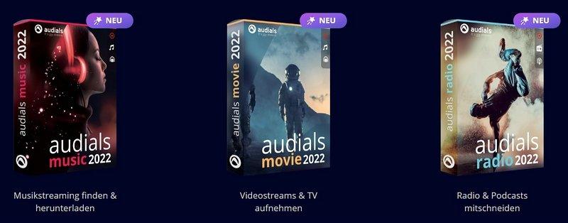 audials 2022 Versionen box shots